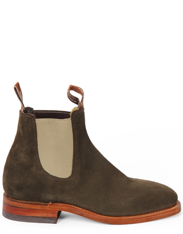 R.M. Williams Craftsman Suede Khaki