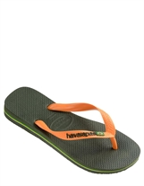 Havaianas Brasil Logo Green w. Orange